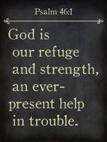 Psalm 46:1- Bible Verse Wall Art Collection