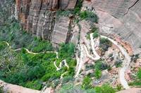 Downhill Switchbacks from Angels Landing