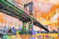 New York City Manhattan Bridge Gold