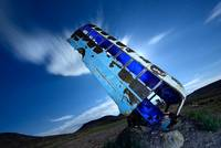 Big Blue Bus Burrowing Bottomward