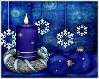 Blue Candle Christmas