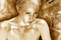 Bronze gold Woman 2