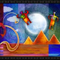 Ancient Astronaut Alien angels Art Prints & Posters by Kenneth Elmer