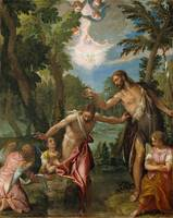 Veronese and workshop. The Baptism of Christ. circ
