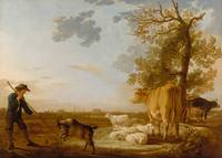 Aelbert Cuyp - Landscape with cattle
