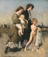 George W. Lambert - The holiday group (The bathers