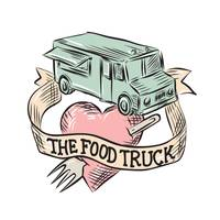 Food Truck Heart Fork Etching