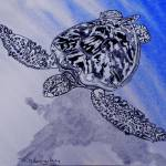 """sea turtle  t0031"" by wgilroy"