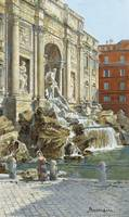 ANTONIETTA BRANDEIS ; THE TREVI FOUNTAIN IN ROME