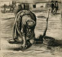 Vincent Van Gogh Peasant Woman Planting Potatoes