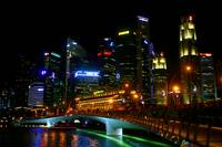 City Night View Singapore 2015