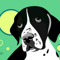 Short Haired Pointer Art Prints & Posters by Pixel Paint Studio