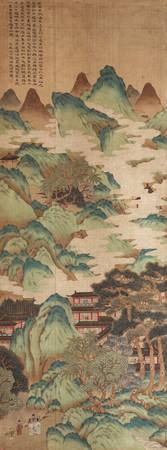 A HANGING SCROLL IN A STYLIZED STYLE OF MA YUAN
