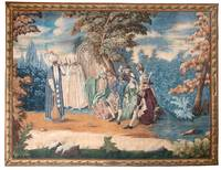 A PAINTED TAPESTRY, 18TH CENTURY