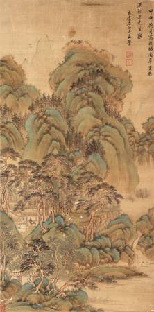 A HANGING SCROLL IN THE STYLE OF WANG HUI (1632-17