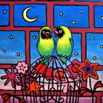 """Two Lovebirds"" by dcbaros"