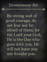 Deuteronomy 31:6- Bible Verse Wall Art Collection