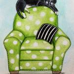"""Polka Dot Snoozes"" by ElizaArt"