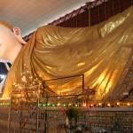 """Reclining Buddha  Chaukhtatkyee Pagoda"" by gpinniger"