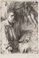 ANDERS ZORN, SELFPORTRAIT WITH MODEL II