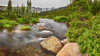 Colorado Indian Peaks Wilderness Creek Panorama