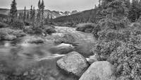 Colorado Indian Peaks Wilderness Panorama BW