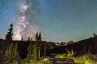 Milky Way Magic Longs Lake and the Indian Peaks