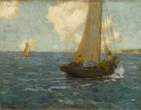 Granville Redmond - Sailboats on calm seas