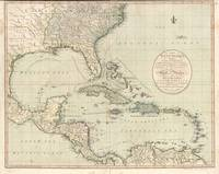 Antique Map of the Caribbean and Central America b
