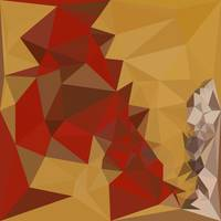Red Ginger Abstract Low Polygon Background