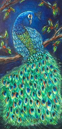 Peacock at Night