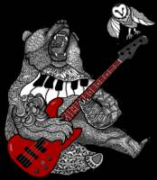 Zendoodle Bear Singing the Blues