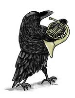 Raven Playing the French Horn