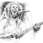 """SKETCHES OF BOB MARLEY"" by DavidLloydGlover"