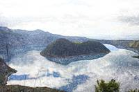 Clouds Reflected in Lake Cuicocha