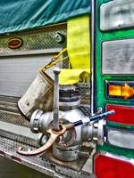 Fire Bucket and Yellow Fire Hose