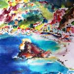 """Monterosso Italy Cinque Terre Ginette"" by GinetteCallaway"