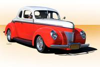 1940 Ford Deluxe Coupe 50 50 1