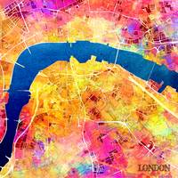 London colored map