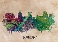 Warsaw skyline green