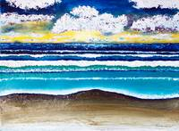 Emerald Coast Seascape Sunrise Painting C1