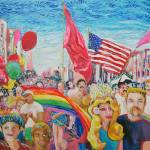 """Castro Street fair San Francisco by RD Riccoboni"" by BeaconArtWorksCorporation"