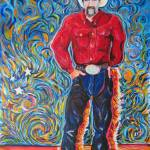 """Cowboy with Red Shirt"" by BeaconArtWorksCorporation"