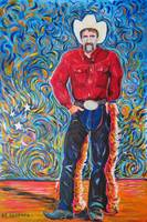 Cowboy with Red Shirt