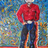 """Cowboy with Red Shirt"" by RD Riccoboni"