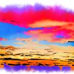 """Colorful Abstract Sunset"" by Kirtdtisdale"