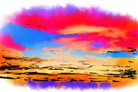Colorful Abstract Sunset