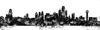 Watercolor-Dallas-BW-pano