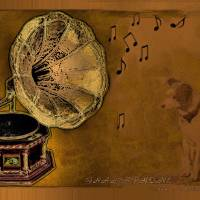 His Masters voice Art Prints & Posters by Valerie Anne Kelly
