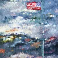 Abstract Stars and Stripes US Flag Art Prints & Posters by Ginette Callaway